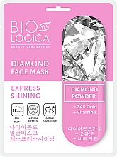 """Parfüm, Parfüméria, kozmetikum Maszk """"Expressz csillogás"""" gyémántpúderrel - Biologica Diamond"""