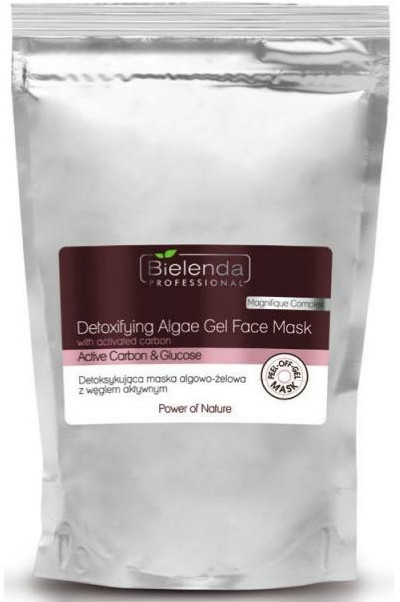 Alginát detox maszk aktív szénnel - Bielenda Professional Power Of Nature Detoxifying Algae Gel Face Mask