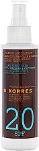 Parfüm, Parfüméria, kozmetikum Napozó olaj - Korres Clear Sunscreen Body Face Walnut Coconut Oil SPF20