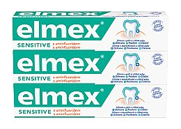 Parfüm, Parfüméria, kozmetikum Szett - Elmex Sensitive Toothpaste (toothpaste/3x75ml)
