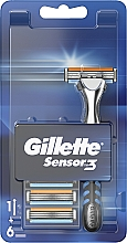Parfüm, Parfüméria, kozmetikum Borotva 6 cserélhető pótfejjel - Gillette Sensor 3