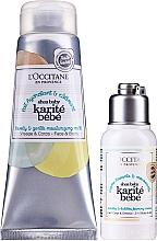 Parfüm, Parfüméria, kozmetikum Szett - L'Occitane Shea Baby Bath Set (sh/cr/75ml + b/milk/100ml)