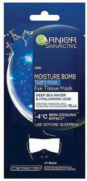 Hidratáló maszk szemre - Garnier Moisture Bomb Deep Sea Water and Hyaluronic Acid Mask