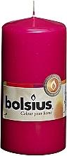 Parfüm, Parfüméria, kozmetikum Henger alakú gyertya, fukszia, 120/58 mm - Bolsius Candle