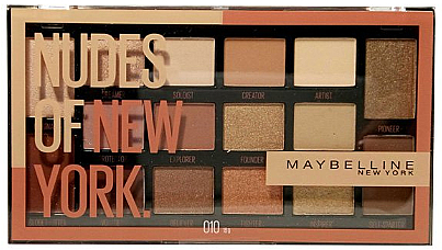 Szemhéjfesték paletta - Maybelline Nudes of New York Eye Palette