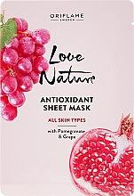 Parfüm, Parfüméria, kozmetikum Antioxidáns anyagmaszk gránátalmával és szőlővel - Oriflame Love Nature