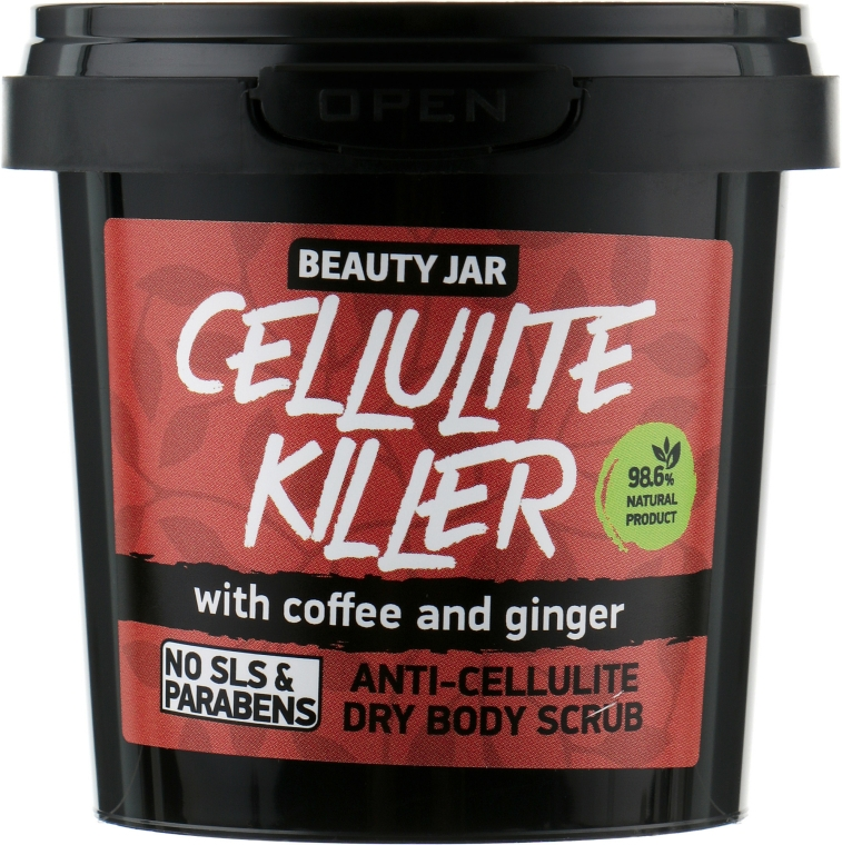 "Bőrradír ""Cellulite Killer"" - Beauty Jar Anti-Cellulite Dry Body Scrub"