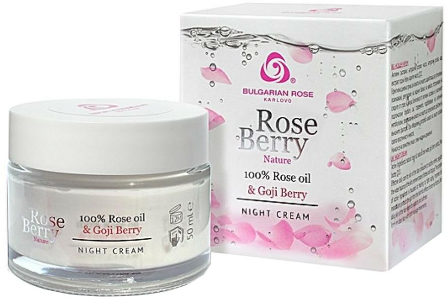 Éjszakai arckrém - Bulgarian Rose Rose Berry Nature Night Cream