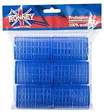 Parfüm, Parfüméria, kozmetikum Tépőzáras hajcsavaró 40/63, kék - Ronney Professional Velcro Roller