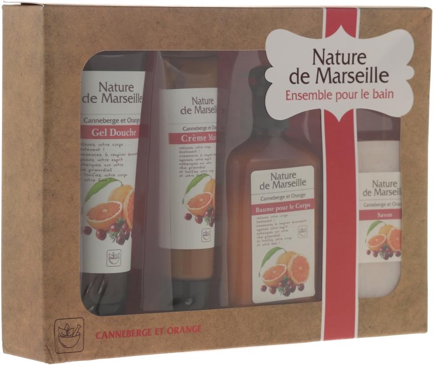 """Szett """"Narancs és vörösáfonya"""" - Nature de Marseille (lot/150ml + sh/gel/100ml + h/cr/60ml + soap/90g)"""