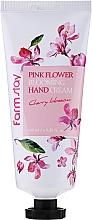 "Parfüm, Parfüméria, kozmetikum Kézkrém ""Meggyvirág"" - FarmStay Pink Flower Blooming Hand Cream Cherry Blossom"