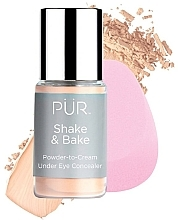 Parfüm, Parfüméria, kozmetikum Korrektor - Pur Shake & Bake Powder-to-Cream Under Eye Concealer
