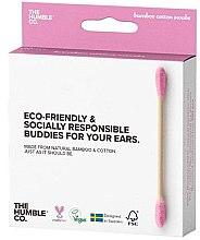 Parfüm, Parfüméria, kozmetikum Bambusz fültisztító pálcika - The Humble Co. Cotton Swabs Pink