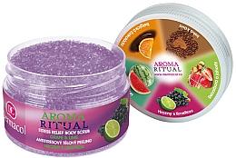"""Parfüm, Parfüméria, kozmetikum Testradír """"Szőlő és lime"""" - Dermacol Aroma Ritual Body Scrub Grape&Lime"""