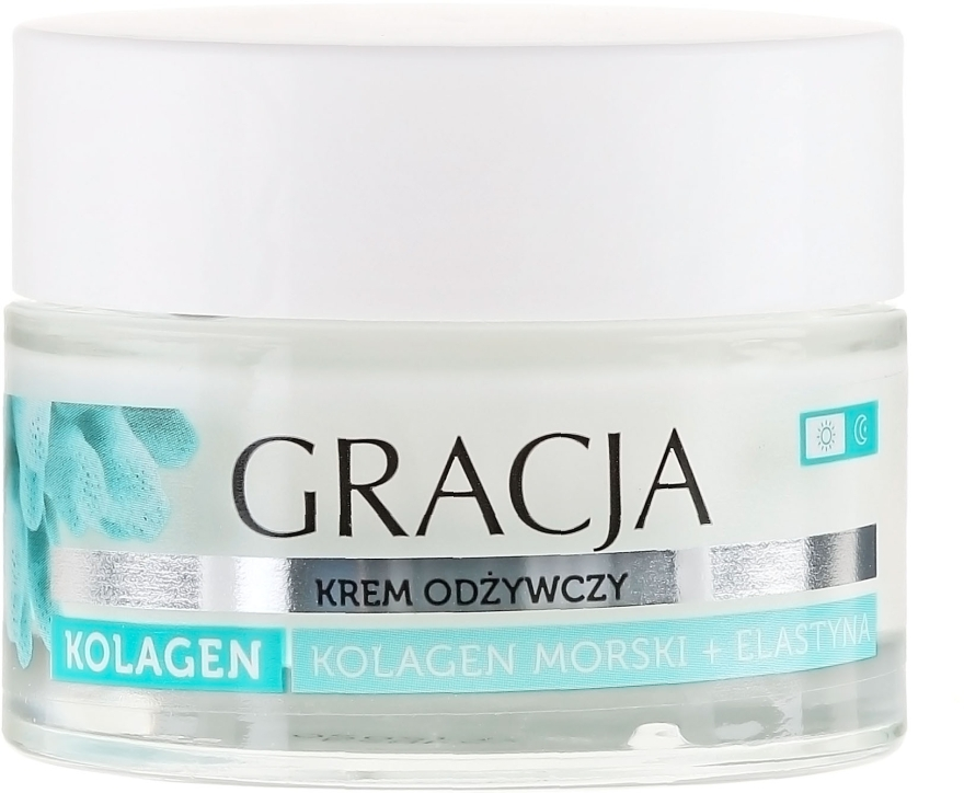 "Ránctalanító tápláló krém ""Tengeri kollagén és elasztin"" - Gracja Sea Collagen And Elastin Anti-Wrinkle Day/Night Cream"