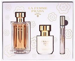 Parfüm, Parfüméria, kozmetikum Prada La Femme Prada - Szett (edp/100ml + b/lot/100ml + edp/mini/10ml)