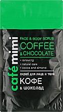 """Parfüm, Parfüméria, kozmetikum Arc- és testradír """"Kávé és csokoládé"""" - Cafe Mimi Scrub"""