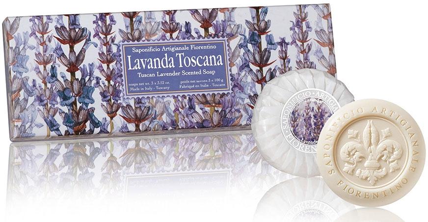 """Szappan szett """"Levendula"""" - Saponificio Artigianale Fiorentino Tuscan Lavender Scented Soap"""