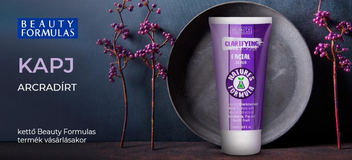 Kettő Beauty Formulas termék vásárlásakor kapj ajándékba arcradírt