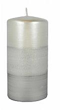 """Parfüm, Parfüméria, kozmetikum Dekoratív gyertya """"Szatén"""", 7x14cm, szürke - Artman Atlas Candle Gray"""