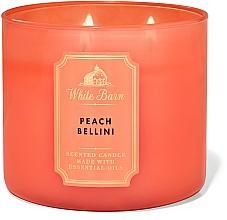 Parfüm, Parfüméria, kozmetikum Bath And Body Works White Barn Peach Bellini 3-Wick Candle - Illatgyertya