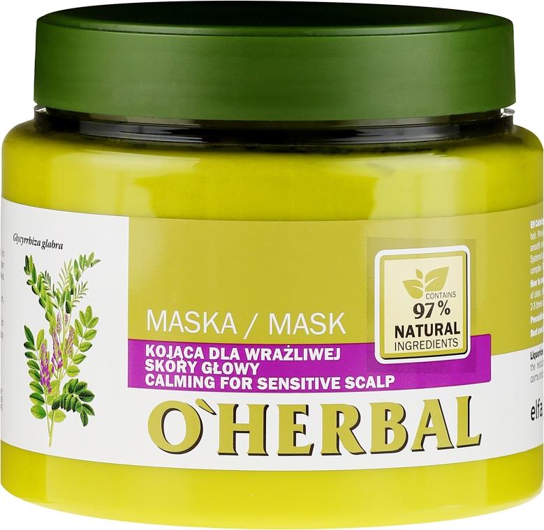 Nyugtató maszk érzékeny fejbőrre - O'Herbal
