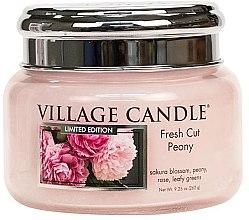 Parfüm, Parfüméria, kozmetikum Aroma gyertya - Village Candle Fresh Cut Peony Glass Jar