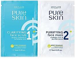 Parfüm, Parfüméria, kozmetikum Bőrradír és tisztító arcmaszk - Oriflame Pure Skin Face Scrub & Mask