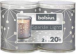 Parfüm, Parfüméria, kozmetikum Gyertyatartó, gyertyákkal - Bolsius Sparkle Lights Crystal Silver Candle