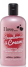 Parfüm, Parfüméria, kozmetikum Tusoló és fürdő krém - I Love... Strawberries & Cream Bubble Bath And Shower Creme