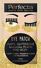 """Parfüm, Parfüméria, kozmetikum Szemtapasz """"Arany fény"""" - Perfecta Gold Glitter Eye Patch"""
