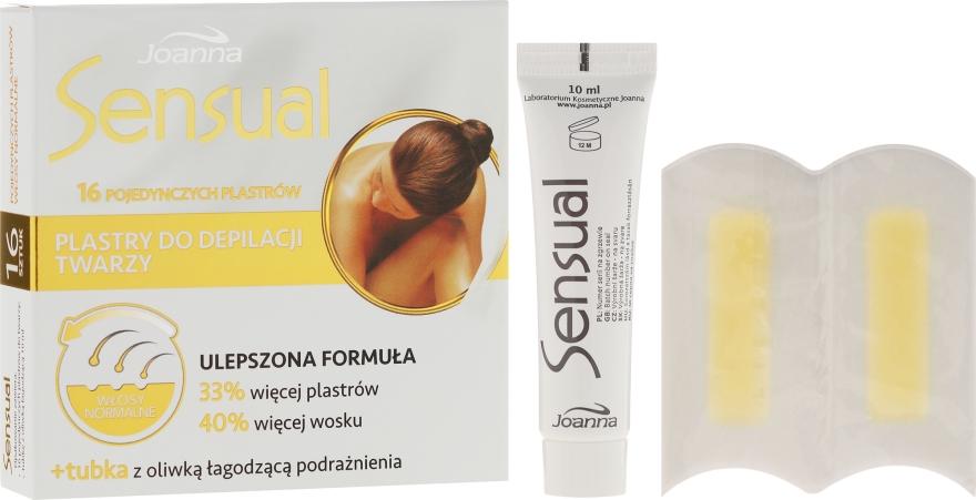Arcgyanta csíkok, normál bőrre - Joanna Sensual Dipilatory Face Strips