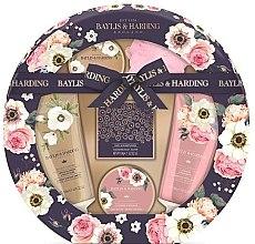 Parfüm, Parfüméria, kozmetikum Szett - Baylis & Harding Royale Garden (sh/cr/130ml + b/wash/130ml + b/butter/100ml + soap/150g + b/krystals/100g + sponge/1)
