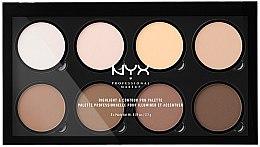 Parfüm, Parfüméria, kozmetikum Bőrvilágosító paletta - NYX Professional Makeup Highlight & Contour Pro Palette