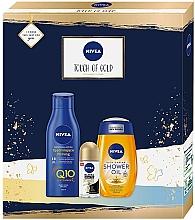 Parfüm, Parfüméria, kozmetikum Szett - Nivea Touch of Gold Set (sh/oil/200ml + b/lot/250ml + deo/50ml)