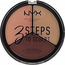 Parfüm, Parfüméria, kozmetikum Korrektor paletta - NYX Professional Makeup 3 Steps To Sculpting Palette