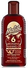 Parfüm, Parfüméria, kozmetikum Testápoló olaj bronzosító hatással - Malibu Bronzing Tanning Oil SPF 6