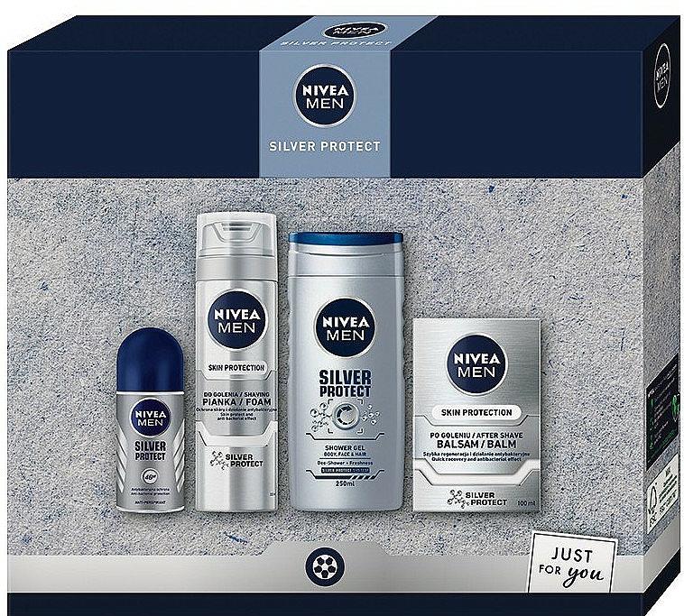 Szett - Nivea Men Silver Protect 2020 (balm/100ml + foam/200ml + shower/gel/250ml + deo/50ml)