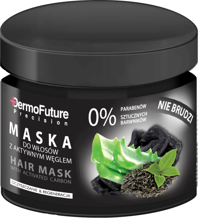 Hajmaszk aktív szénnel - DermoFuture Hair Mask With Activated Carbon