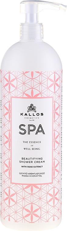 Hidratáló tusfürdő rózsa kivonattal - Kallos Cosmetics Spa Beautifying Shower Cream