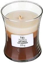 Parfüm, Parfüméria, kozmetikum Illatosított gyertya pohárban - WoodWick Hourglass Trilogy Cafe Sweets