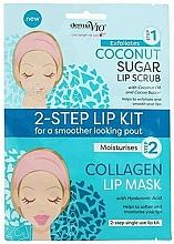 Parfüm, Parfüméria, kozmetikum Maszk-radír ajakra kókusszal - Derma V10 2 Step Lip Treatment Kit Coconut