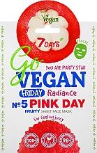 "Parfüm, Parfüméria, kozmetikum Szövet arcmaszk ""Pink Day"" - 7 Days Go Vegan Friday Pink Day"