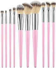 Parfüm, Parfüméria, kozmetikum Professzionális sminkecset szett 10 db, rózsaszín - Tools For Beauty