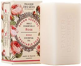 """Parfüm, Parfüméria, kozmetikum Extra lágy növényi szappan """"Rózsa"""" - Panier des Sens Rose Extra-Gentle Vegetable Soap"""