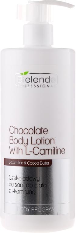 Csokoládé testápoló - Bielenda Professional Body Program Chocolate Body Lotion With L-Carnitine