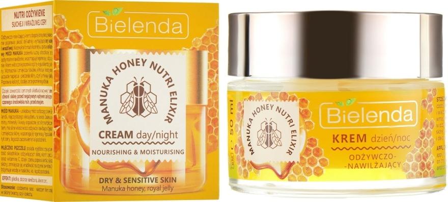 Tápláló hidratáló arckrém - Bielenda Manuka Honey Nutri Elixir Day/Night Cream — fotó N1