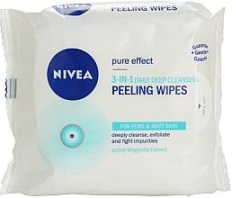 Parfüm, Parfüméria, kozmetikum Mélyen tisztító peeling törlőkendők 3in1 - Nivea Visage Pure Effect Peeling Wipes
