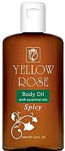 Parfüm, Parfüméria, kozmetikum Lágyító testolaj - Yellow Rose Body Oil With Essential Oils Spicy