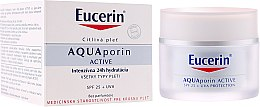 Parfüm, Parfüméria, kozmetikum Arckrém - Eucerin AquaPorin Active Deep Long-lasting Hydration For All Skin Types SPF 25 + UVA